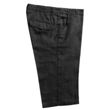 Martin Gordon Linen Shorts (For Men) in Black - Closeouts