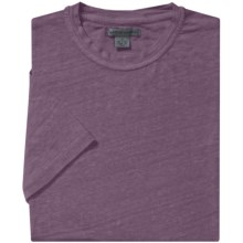 Martin Gordon Linen T-Shirt - Crew Neck, Short Sleeve (For Men) in Aubergine - Closeouts