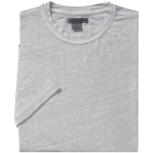 Martin Gordon Linen T-Shirt - Crew Neck, Short Sleeve (For Men) in Silver - Closeouts