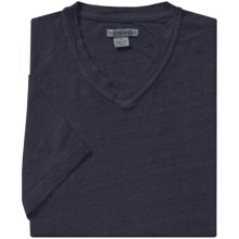Martin Gordon Linen T-Shirt - V-Neck, Short Sleeve (For Men) in Blue Steel - Closeouts
