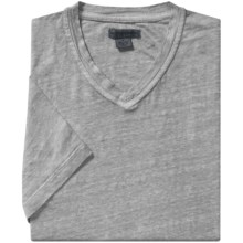 Martin Gordon Linen T-Shirt - V-Neck, Short Sleeve (For Men) in Silver - Closeouts