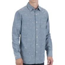 Martin Gordon Loosely Woven Cotton Sport Shirt - Long Sleeve (For Men) in Indigo Paisley - Closeouts