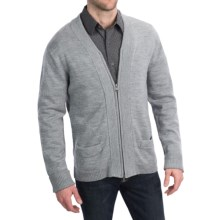Martin Gordon Merino Wool Cardigan Sweater (For Men) in Grey - Closeouts