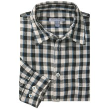 Martin Gordon Patterned Sport Shirt - Long Sleeve (For Men) in Black/Natural/Blue Check - Closeouts