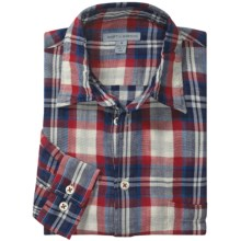 Martin Gordon Patterned Sport Shirt - Long Sleeve (For Men) in Navy/Red/Natural Plaid - Closeouts
