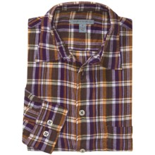 Martin Gordon Patterned Sport Shirt - Long Sleeve (For Men) in Purple/Yellow/Green - Closeouts