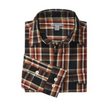 Martin Gordon Plaid Flannel Sport Shirt - Cotton, Long Sleeve (For Men) in Black - Closeouts