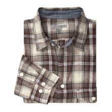 Martin Gordon Plaid Linen Shirt - Long Sleeve (For Men) in Brown - Closeouts