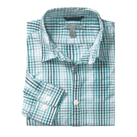 Martin Gordon Plaid Shadow Check Sport Shirt - Long Sleeve (For Men) in Purple