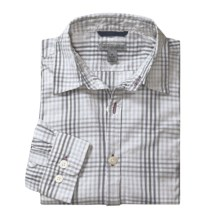 Martin Gordon Plaid Shadow Check Sport Shirt - Long Sleeve (For Men) in Grey - Closeouts