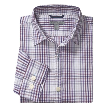 Martin Gordon Plaid Shadow Check Sport Shirt - Long Sleeve (For Men)