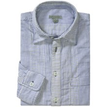 Martin Gordon Popover Stripe Shirt - Cotton, Long Sleeve (For Men) in Blue - Closeouts