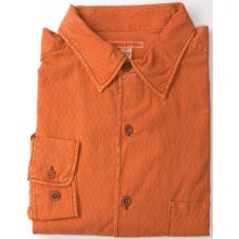 Martin Gordon Silk-Cotton Sport Shirt - Long Sleeve (For Men) in Pumpkin Diamonds - Closeouts