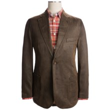 Martin Gordon Stretch Cotton Blend Blazer (For Men) in Brown - Closeouts