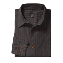Martin Gordon Subtle Stripe Sport Shirt - Pigment-Dyed Corduroy, Long Sleeve (For Men) in Black - Closeouts