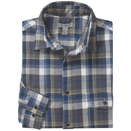 Martin Gordon Two-Pocket Plaid Shirt - Long Sleeve (For Men) in Navy/Slate