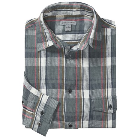 Martin Gordon Two-Pocket Plaid Shirt - Long Sleeve (For Men) in Slate