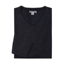 Martin Gordon V-Neck Sweater - Merino Wool (For Men) in Navy - Closeouts