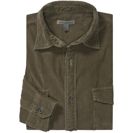 Martin Gordon Vintage Cord Shirt - Long Sleeve (For Men) in Olive