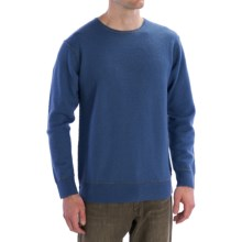 Martin Gordon Wool Sweater - Contrast Stitching (For Men) in Blue - Closeouts