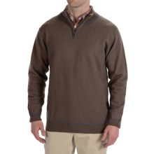 Martin Gordon Wool Sweater - Zip Neck (For Men) in Mink - Closeouts