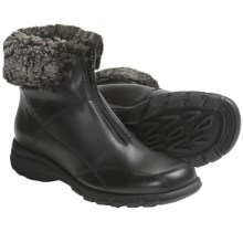 Martino Shearling Collar Boots - Waterproof, Leather (For Women) in Black - Closeouts