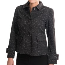 Mary McFadden Collection Tweed Jacket - Button-Up (For Women) in Black Multi - Closeouts