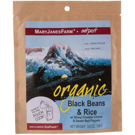 MaryJanesFarm Organic Black Beans and Rice Food Pack - Vegetarian, 1.5 Servings in Asst - Closeouts