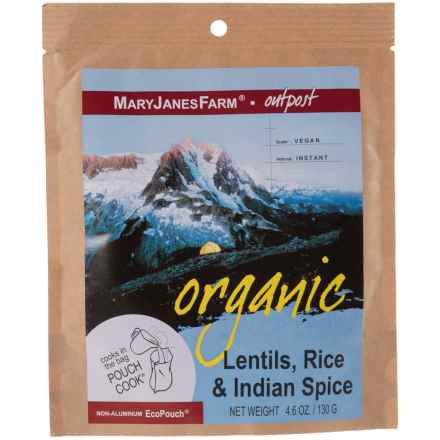 MaryJanesFarm Organic Lentils, Rice and Indian Spice Food Pack - Vegan, 1.5 Servings in Asst - Closeouts