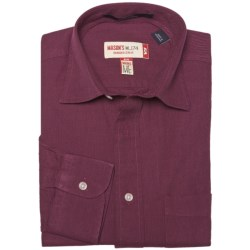 Mason's Brushed Cotton Twill Shirt - Long Sleeve (For Men) in Brown