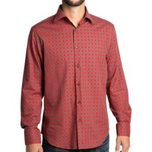 Mason's Check Shirt - Spread Collar, Long Sleeve (For Men) in Red/Black - Closeouts