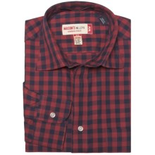 Mason's Cotton Multi-Check Shirt - Long Sleeve (For Men) in Red/Black - Closeouts