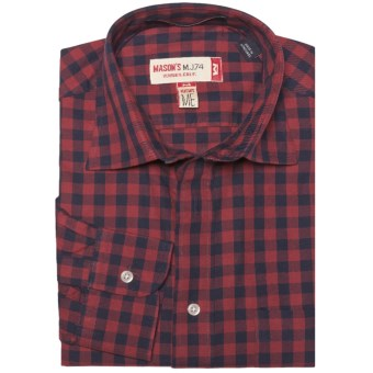 Mason's Cotton Multi-Check Shirt - Long Sleeve (For Men) in Red/Black