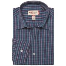 Mason's Cotton Multicolor Plaid Shirt - Long Sleeve (For Men) in Blue/Fushia - Closeouts