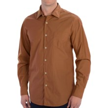 Mason's Paper Finish Sport Shirt - Long Sleeve (For Men) in Tobacco - Closeouts