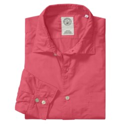Mason's Trim Fit Sport Shirt - Lightweight Cotton, Long Sleeve (For Men) in Coral
