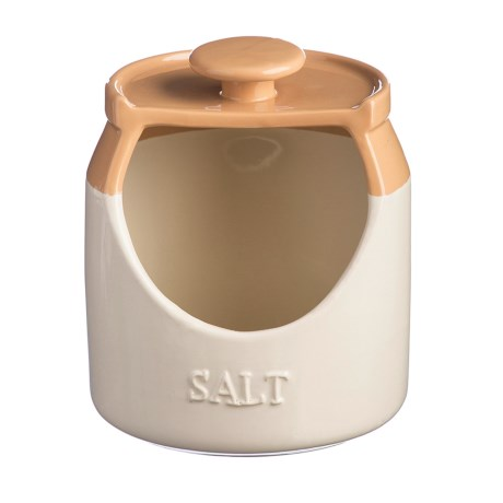 Mason Cash Cane Collection Stoneware Salt Pig in Buttercream