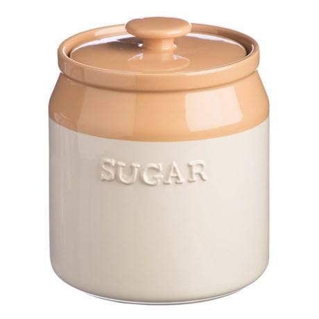 Mason Cash Cane Collection Stoneware Sugar Canister - 40.5 oz. in Buttercream