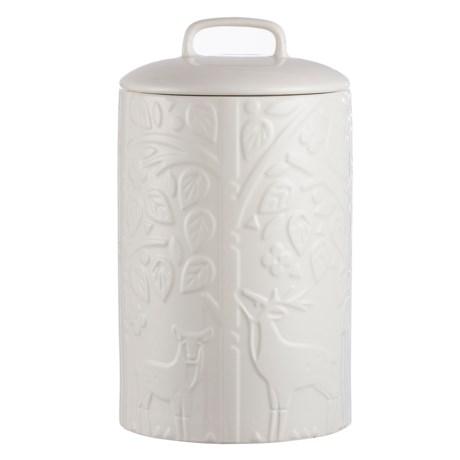 Mason Cash In the Forest Ceramic Food Storage Jar - 90 oz. in Vintage Cream