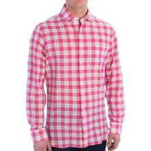Mason's Cotton Plaid Sport Shirt - Spread Collar, Long Sleeve (For Men) in Berry/White/Blue - Closeouts