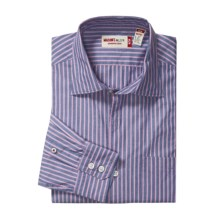 Mason's Cotton Stripe Sport Shirt - Trim Fit (For Men) in Navy/Pink - Closeouts