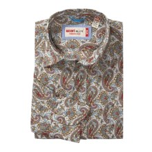 Mason's Fancy Cotton Sport Shirt - Long Sleeve (For Men) in Light Blue/Red/Gold Paisley - Closeouts