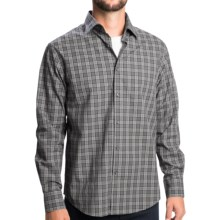 Mason's Plaid Sport Shirt - Spread Collar, Long Sleeve (For Men) in Black/Grey - Closeouts