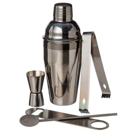 Masterclass Cocktail Set - 5-Piece, Stainless Steel in Gunmetal - Closeouts