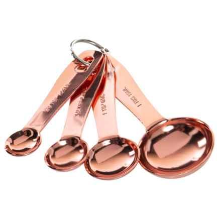 Masterclass Copper Measuring Spoons - Set of 4 in Copper - Closeouts