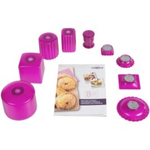 Mastrad Mini Pies and Ravioli Kit - 10-Piece Set in Raspberry - Closeouts