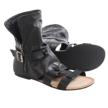 Matisse Baggins Gladiator Sandals - Leather (For Women) in Black - Closeouts