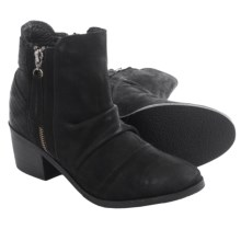 Matisse Bison Suede Ankle Boots (For Women) in Black - Closeouts