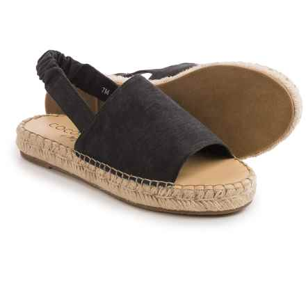 Matisse Darling Espadrille Sandals (For Women) in Black Canvas - Closeouts