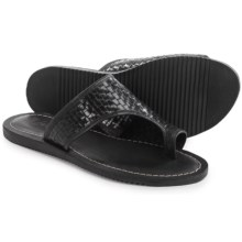 Matisse Davie Woven Leather Sandals (For Women) in Black - Closeouts